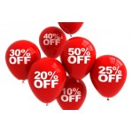PROMO of OUTLET  - 50 %  and more